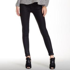 Joe's Mid Rise Skinny Coated Jeans Size: 29